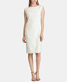 Lauren Ralph Lauren Button-Trim Dress