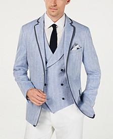 Men's Herringbone Linen Slim Fit Sportcoat
