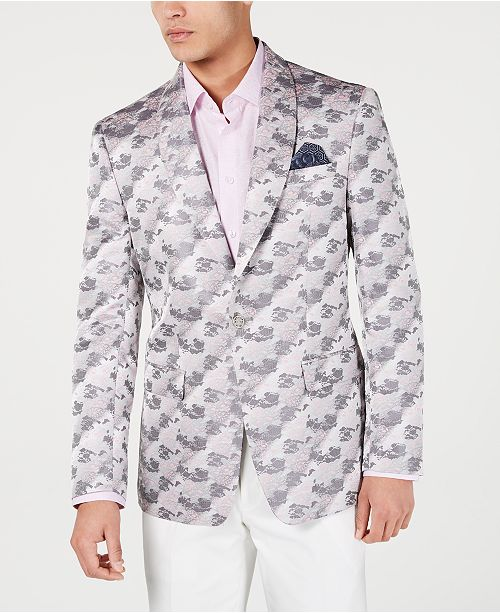 Tallia Men's Slim-Fit Jacquard Dinner Jacket