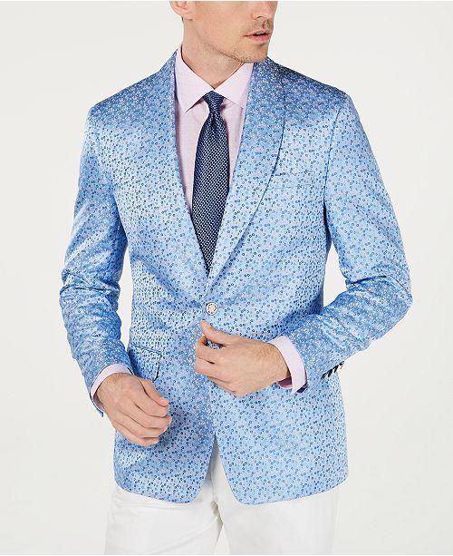 Tallia Men's Slim-Fit Floral Jacquard Dinner Jacket