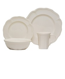 Red Vanilla Classic 16-piece Dinner Set with Coupe Bowl
