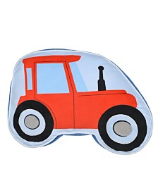 Dream Factory Trains And Trucks Tractor Pillow