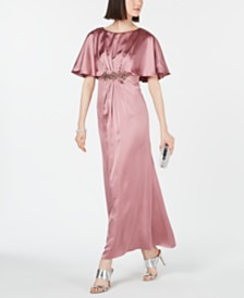 Adrianna Papell Petite Embellished Cape Gown