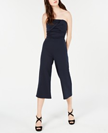 Material Girl Juniors' Strapless Jumpsuit, Created for Macy's
