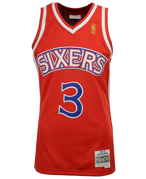online retailer 14b9c f5c0e Big Boys Allen Iverson Philadelphia 76ers Hardwood Classic Swingman Jersey