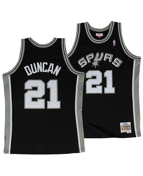 buy popular 6ff96 7781e Big Boys Tim Duncan San Antonio Spurs Hardwood Classic Swingman Jersey