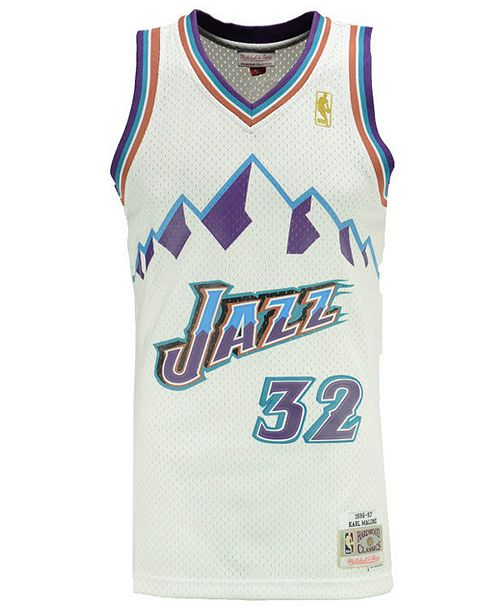 premium selection 1be98 7e732 Big Boys Karl Malone Utah Jazz Hardwood Classic Swingman Jersey