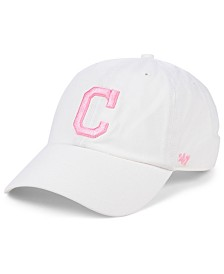 '47 Brand Cleveland Indians White Rose CLEAN UP Cap