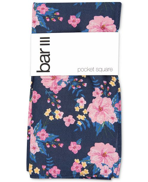 Bar III Men's Morgan Floral Pocket Square, Created for Macy's