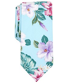 Bar III Men's Concord Floral Skinny Tie, Created for Macy's