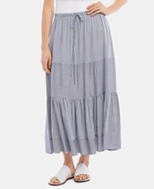 Karen Kane Mixed-Stripe Skirt