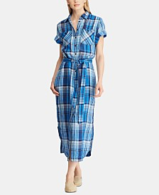 Lauren Ralph Lauren Plaid Linen Shirtdress