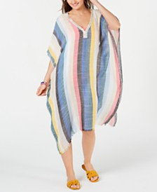 I.N.C. Rainbow Stripe Caftan, Created for Macy's