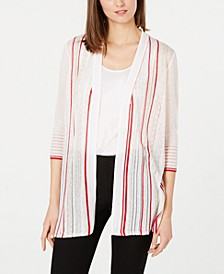 Striped Open-Front Cardigan, Created for Macy's