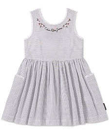 Calvin Klein Baby Girls Striped Cotton Dress