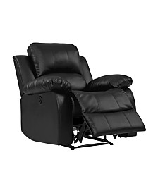 Prolounger Black Renu Leather Electric Wall Hugger Recliner