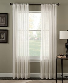 "Trinity 51"" x 84"" Crinkle Voile Sheer Curtain Panel"