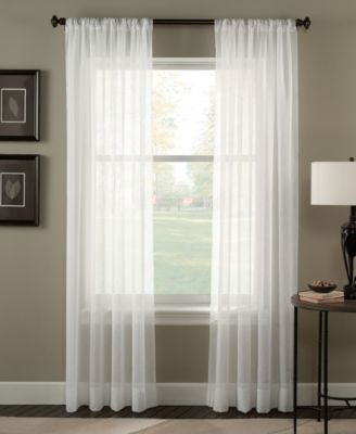 "Trinity 51"" x 120"" Crinkle Voile Sheer Curtain Panel"