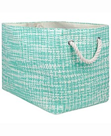 "17"" Rectangle Tweed Print Storage Bin"