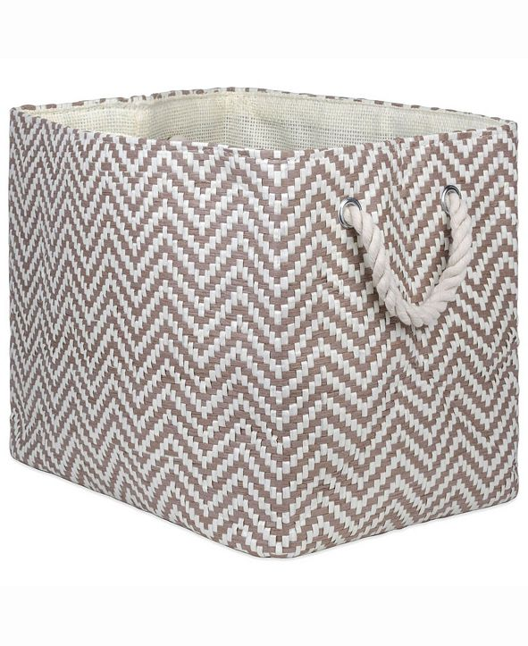Design Imports Paper Bin Chevron, Rectangle