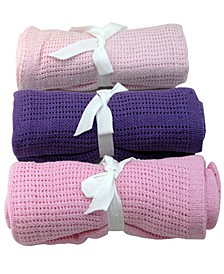 Snuggle Cellular Cotton Baby Blanket