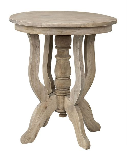 East At Main Boyd Rubberwood Accent Table