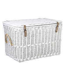 East At Main's Milan Rattan Storage Trunk Set of 2