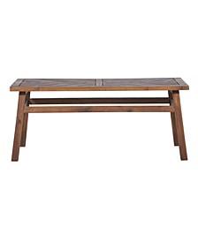 Patio Wood Coffee Table