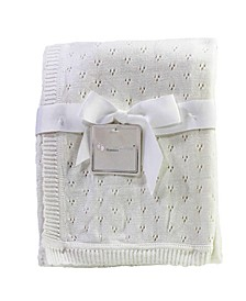 3 Stories Trading Pointelle Layette Baby Blanket