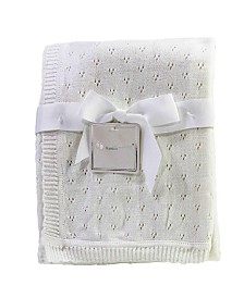 3Stories Pointelle Layette Baby Blanket