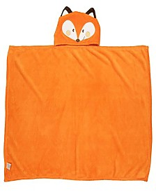 Toddler Plush Fox Hooded Blanket