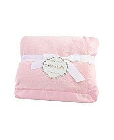 3 Stories Trading Solid Coral Fleece Baby Blanket With Satin Border