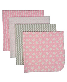 3 Stories Trading Baby Receiving Blankets, Set Of 4