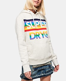 Superdry Rainbow Logo-Print Hooded Sweatshirt