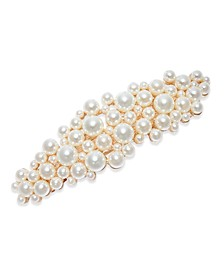 INC Gold-Tone Imitation Pearl Cluster Hair Clip, Created for Macy's