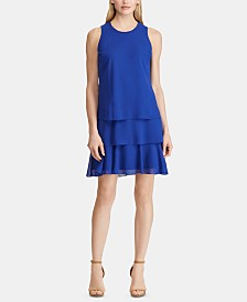 Lauren Ralph Lauren Tiered Ruffle Georgette Dress