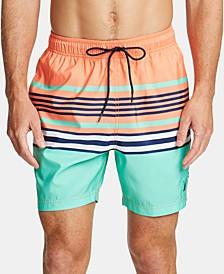 "Men's Variegated Stripe Quick-Dry 8"" Swim Trunks"