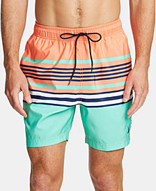 "Nautica Men's Variegated Stripe Quick-Dry 8"" Swim Trunks"