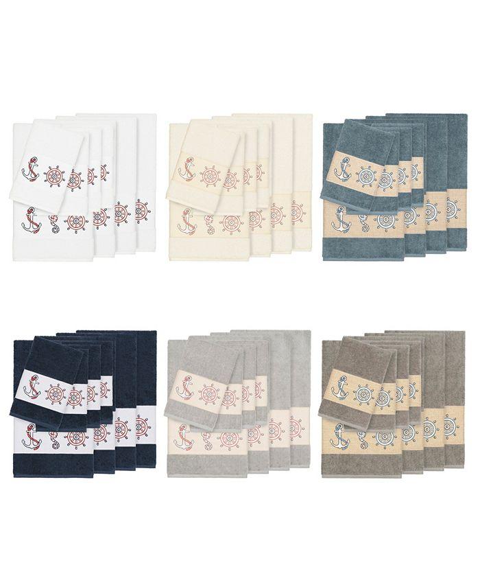 Linum Home - Turkish Cotton Annabelle 8-Pc. Embellished Towel Set