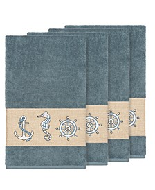 Turkish Cotton Easton 4-Pc. Embellished Bath Towel Set