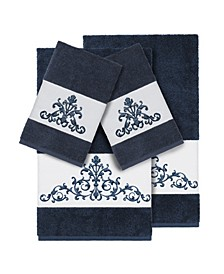 Turkish Cotton Scarlet 4-Pc. Embellished Towel Set