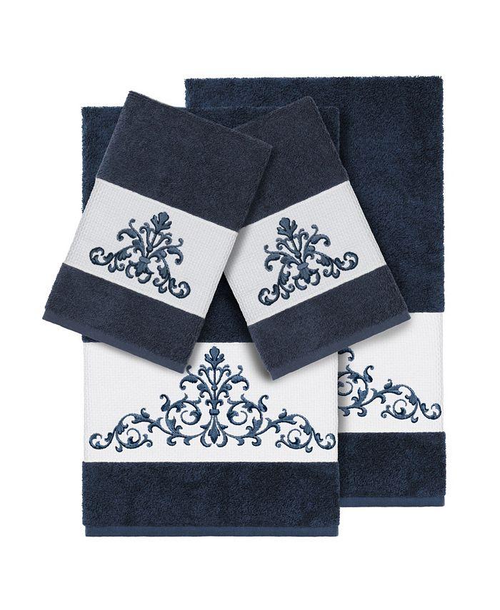Linum Home - Turkish Cotton Scarlet 4-Pc. Embellished Towel Set