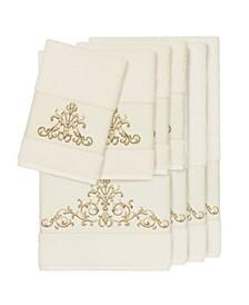 Turkish Cotton Scarlet 8-Pc. Embellished Towel Set