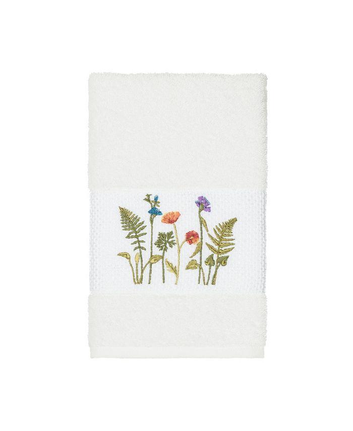 Linum Home - Turkish Cotton Serenity Embellished Hand Towel