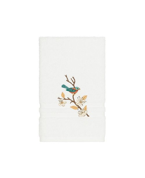 Linum Home Turkish Cotton Springtime Embellished Hand Towel