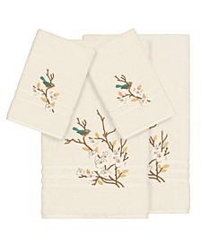 Turkish Cotton Springtime 4-Pc. Embellished Towel Set