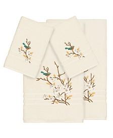 Linum Home Turkish Cotton Springtime 4-Pc. Embellished Towel Set