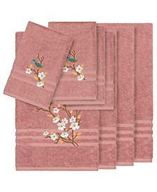 Turkish Cotton Springtime 8-Pc. Embellished Towel Set