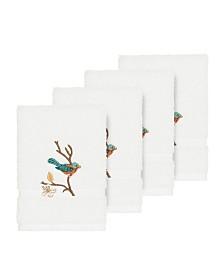 Linum Home Turkish Cotton Springtime 4-Pc. Embellished Washcloth Set