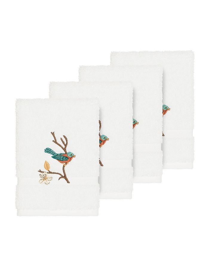 Linum Home - Turkish Cotton Springtime 4-Pc. Embellished Washcloth Set